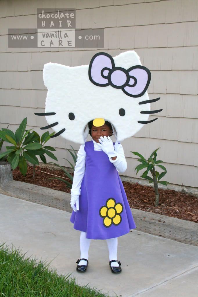 Family Friday: Homemade Hello Kitty Costume (with DIY Instructions) | Chocolate Hair / Vanilla Care AMAZING HELLO KITTY COSTUME TUTORIAL
