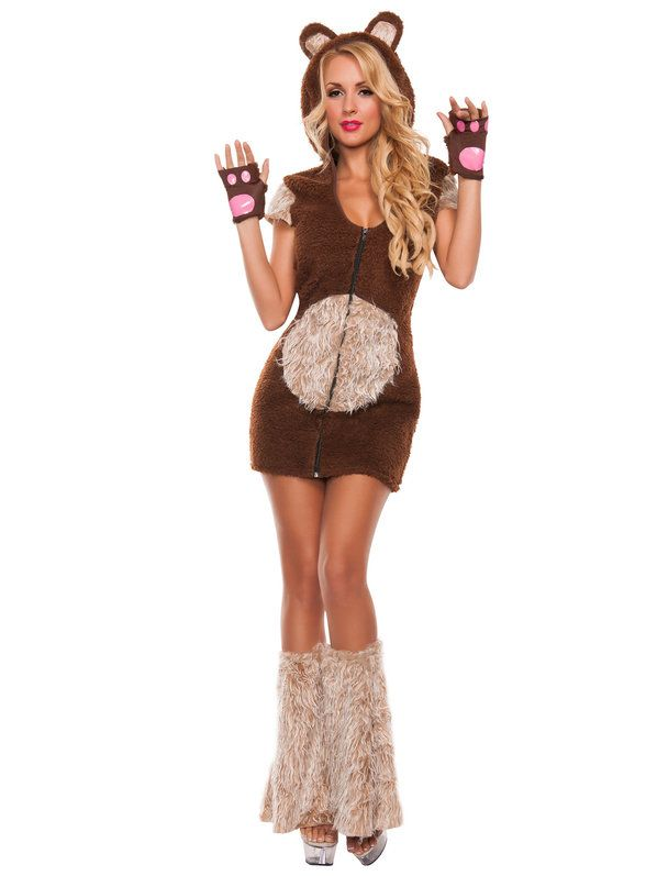 Check out Sexy Cuddle Me Bear Costume - Wholesale Animals Costumes for Adults from Wholesale Halloween Costumes