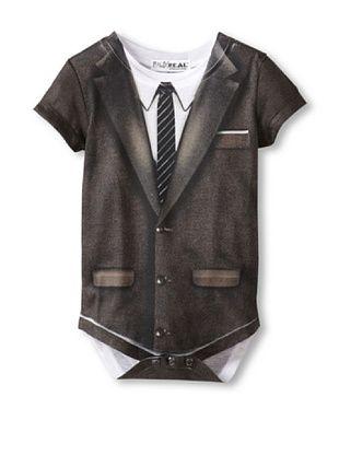 24% OFF Faux Real Kid's Suit Romper (Black)