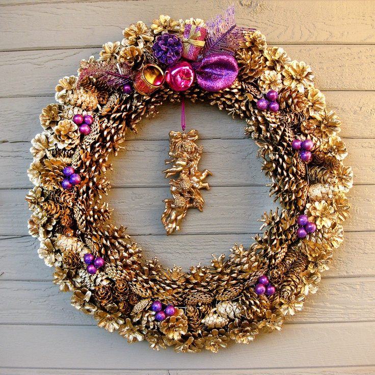 Best images about purple and gold christmas decorations
