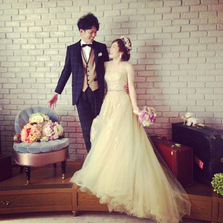 オーダーメイドフォトウエディング(Photo Wedding)ドレス(Dress):03-8701 / タキシード(Tuxedo):12-4123