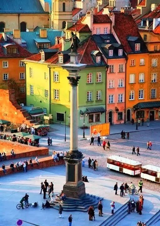 Colorful Buildings - Warsaw, Poland - Explore the World with Travel Nerd Nici, one Country at a Time. http://TravelNerdNici.com
