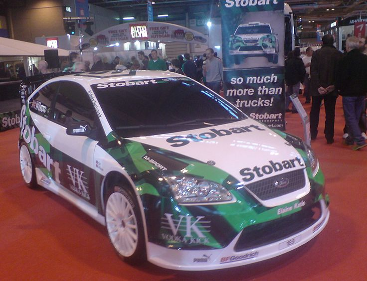 Sponsoring motor rally car