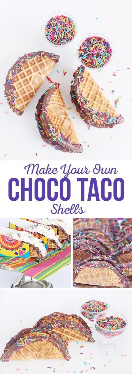Make Your Own Choco Taco Shells - A yummy Cinco de Mayo treat!