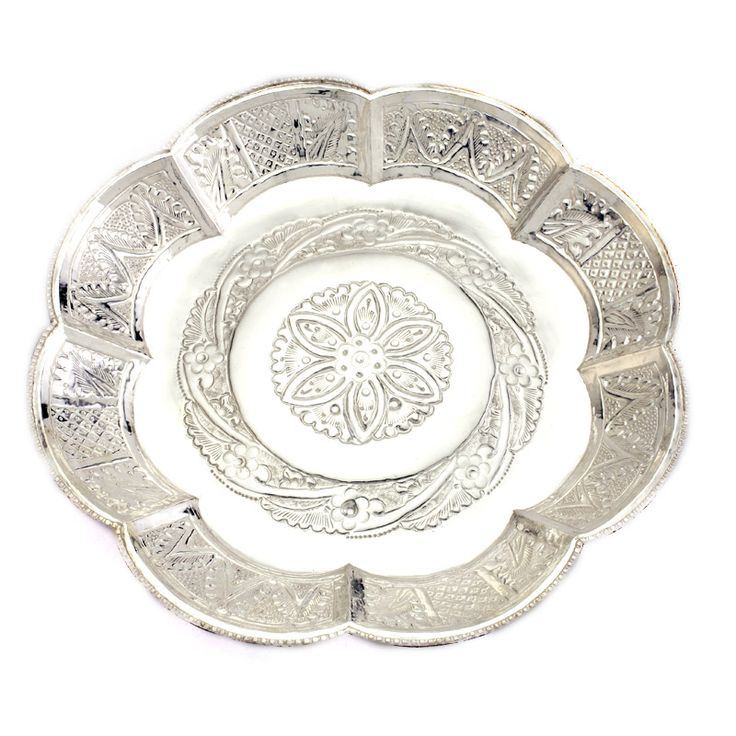 Silver Plates For Eating Indian