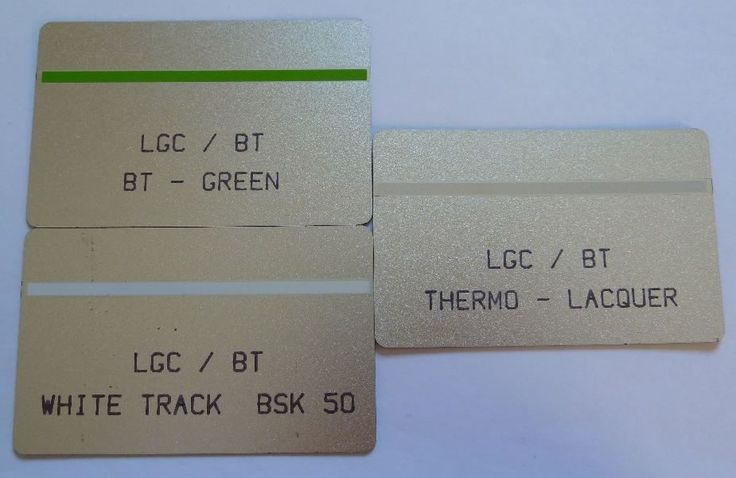 BT Trial Cards BTE017, BTE018 and BTE019.