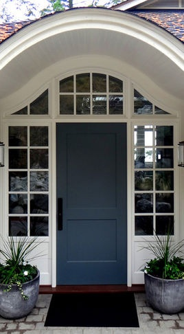 Front Door color..really pretty blue/grey color