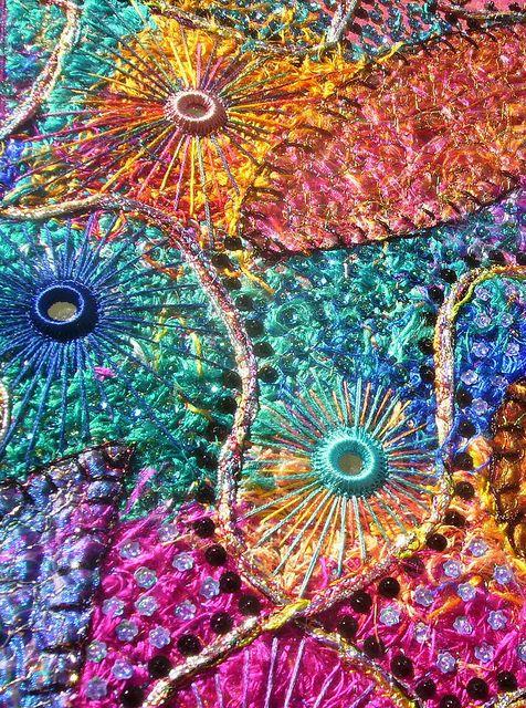 Beautiful textile work Karen Cattoire