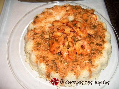 Γαρίδες με ρύζι #sintagespareas