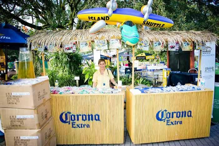 Corona booth