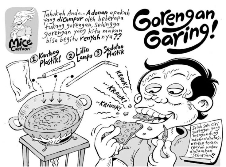 MICE CARTOON - GORENGAN GARING - Karya: Muhammad Mice Misrad - Sumber: Kompas Minggu - 27 Mei 2012