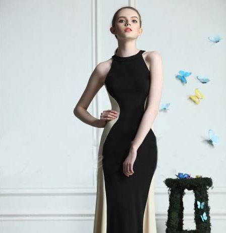 European style Long Dress Elegant Black » BAJEU