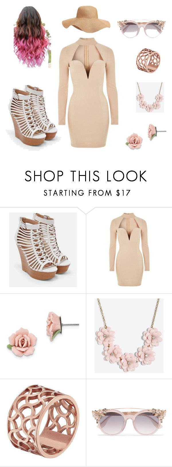 """""""Untitled #8"""" by butterflyking ❤ liked on Polyvore featuring JustFab, Rare London, 1928, J.Crew, Tartesia, Jimmy Choo and Old Navy"""