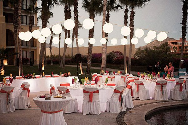 lights around the pool areaPools Area, Dance Floors, Paper Lanterns, Capes, String Lights, Wedding Dreams, Dream Wedding, Outdoor Lights, Wedding Venues