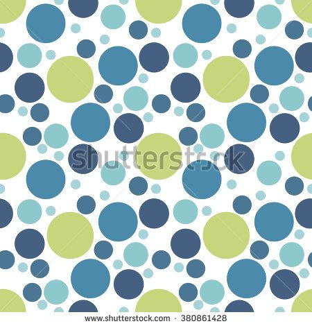 Blue, turquoise, green spotted seamless pattern on white. Random polka dot texture.Dotted retro circle background ornament for wrapping paper, fabric, textile, website, wallpaper. Vector illustration.