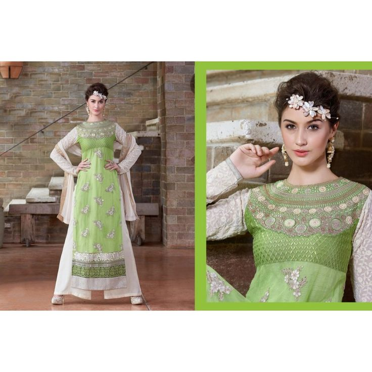 Viva N Diva Green Color Georgette Suit for Rs 2900  #salwarkameez #salwarsuits #fashion #style #trendy #onlineshopping #ethnic  http://goo.gl/F4hYEY