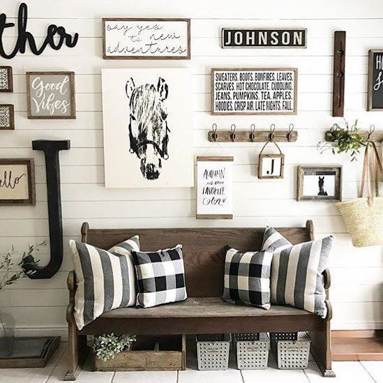 Budget Friendly Modern Farmhouse Family: 25+ Best Ideas About Rustic Gallery Wall On Pinterest