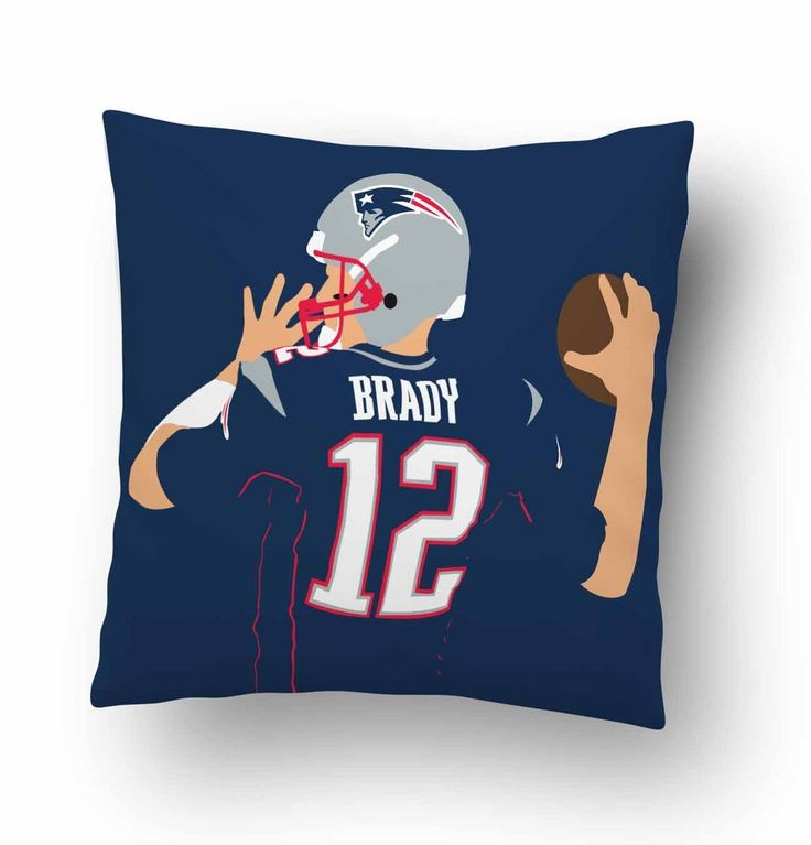 Tom Brady Patriots Team Pillow Cover #Housewares #Pillow #Cotton #Pillowcase #Covers #PillowCases #HomeDecor #DecorativePillow #CouchPillowCover #Hot #Case #cover #women #Men #Child