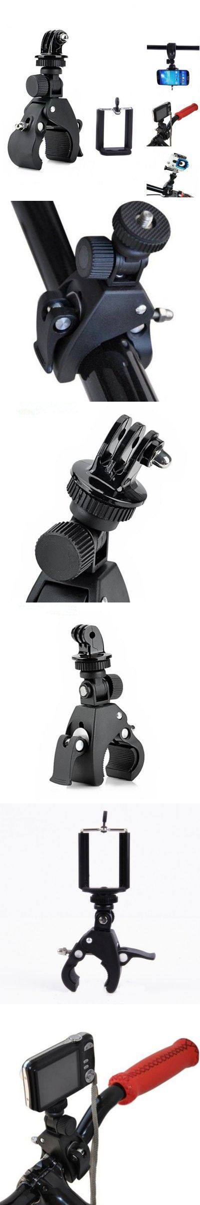 3-in-1 Bike Tripod Mount Sports Camera Holder with Connector-6.19