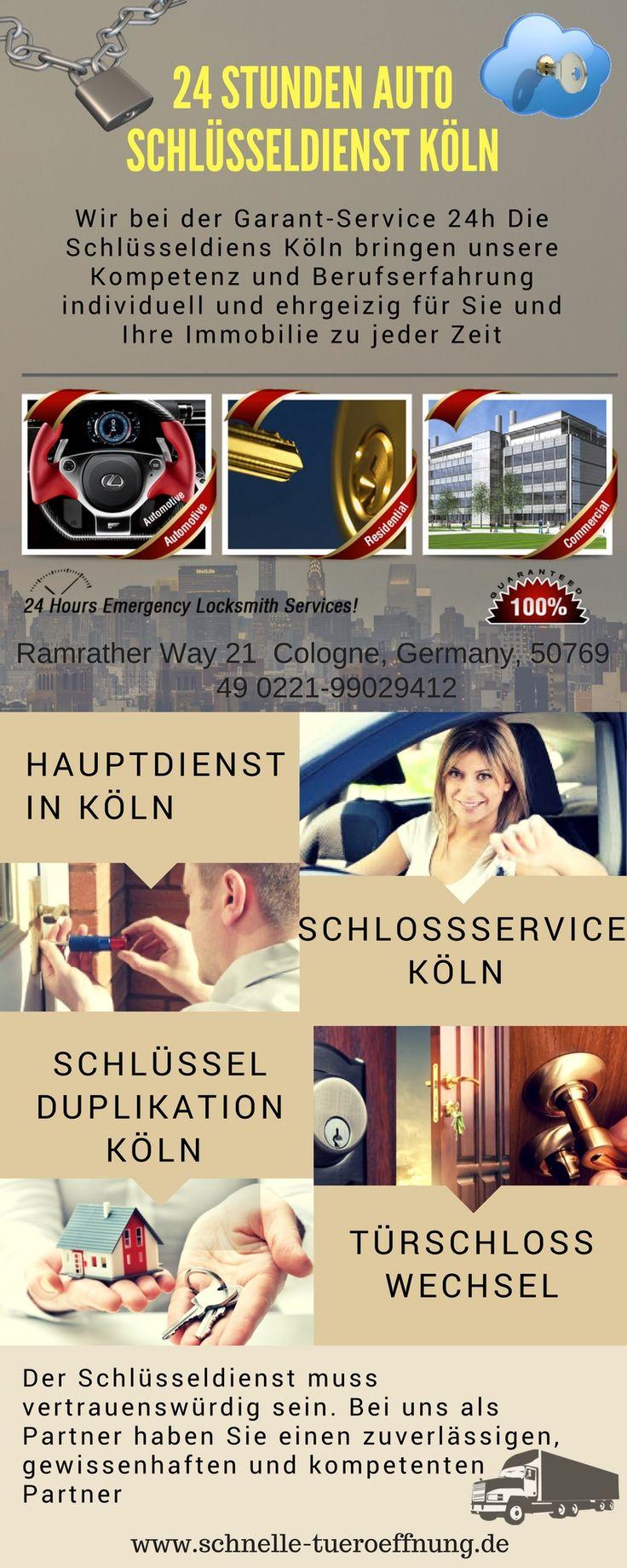 Sie haben Probleme mit Ihrer Tür und Ihrem Schloss? Schlüssel verloren? Tür zugefallen? Sie sind ausgesperrt? Melden Sie sich Tag und Nacht beim Schlüssel Notdienst der Köln Innenstadt.