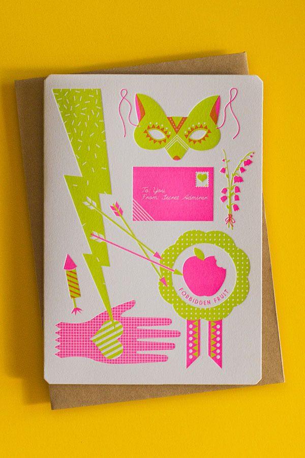 Lovestruck Letterpress Valentine's Day Card by Beci Orpin