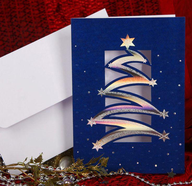 корпоративные открытки на новый год с вырубкой нашем садовом