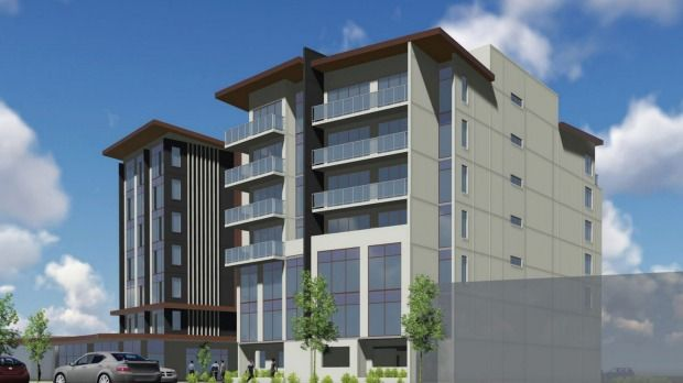 Artist's impression of proposed new hotel in southern High St, Lower Hutt.