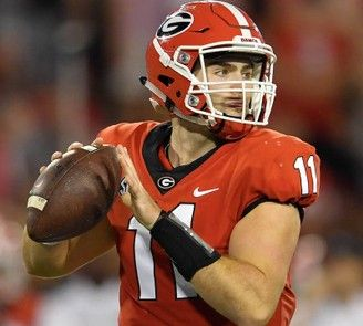 The Georgia Bulldogs, and quarterback Jake Fromm, meet the Oklahoma Sooners in the New Year's Day Rose Bowl College Football Playoff semifinal. (Dale Zanine | USA TODAY Sports)