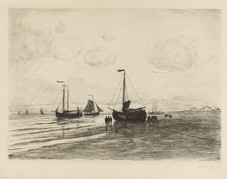 Op het strand bij Katwijk, Carel Nicolaas Storm van 's-Gravesande, 1869 - 1924