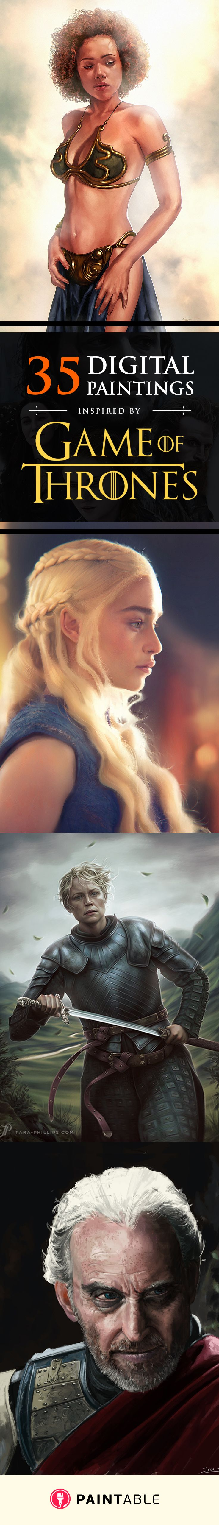 35 Digital Paintings Inspired by Game of Thrones @ www.paintable.cc // Paintable