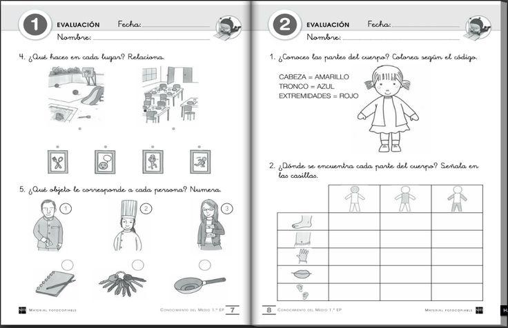El blog de primero: Cuadernos de evaluación para las áreas de conocimiento del medio, lengua castellana y matemáticas de 1º EP