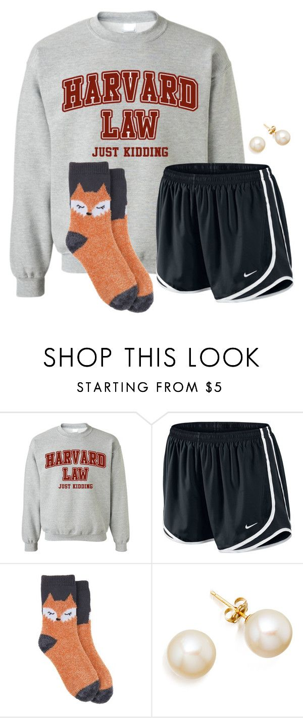 """I would so wear this right now"" by flroasburn ❤ liked on Polyvore featuring NIKE and Target"
