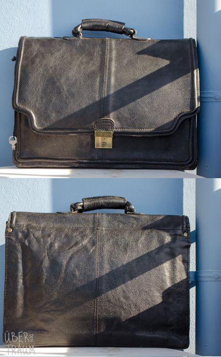 90's HiDesign Black Leather Office Bag - Über den Traum