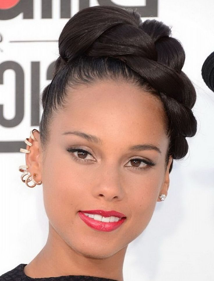 Updo Hairstyles For African American Women Braided Bun With Regard To Americans
