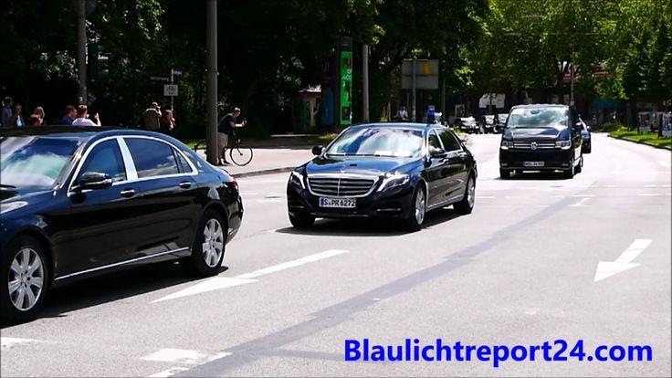 G20 Hamburg VIP Escort China's President Xi + Lautsprecherdurchsage