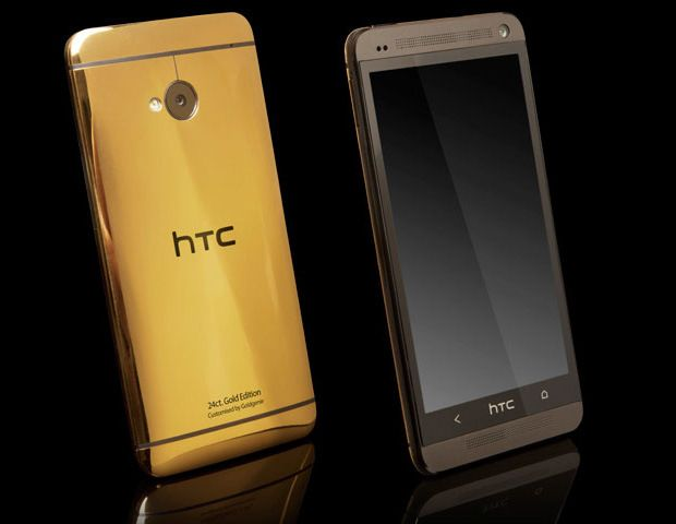 Gold HTC One  HTC will be creating a special edition gold HTC One to celebrate the MOBO awards. The device will cost a whopping £2,750 and it'll be covered in real 18-carat. Unfortunately this model won't be available to the general consumer.