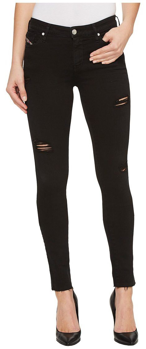 Diesel Skinzee L.32 Trousers 84EX (Black) Women's Jeans - Diesel, Skinzee L.32 Trousers 84EX, 00S142084EX-900, Apparel Bottom Jeans, Jeans, Bottom, Apparel, Clothes Clothing, Gift - Outfit Ideas And Street Style 2017