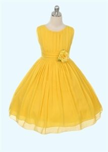 Betsy Chiffon Dress - YELLOW