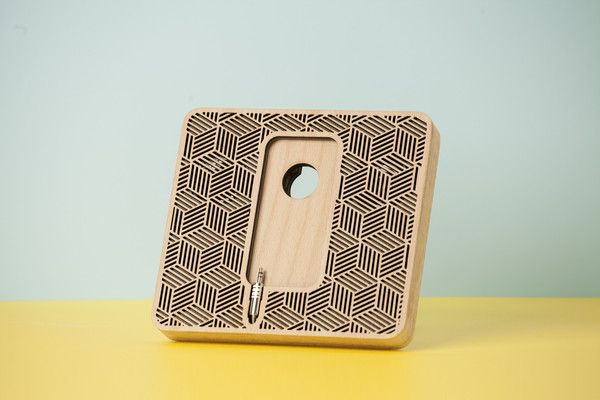 """Wood'd PLAIN POD WITH SPEAKERS """"OPTICAL"""" - GREY-"""