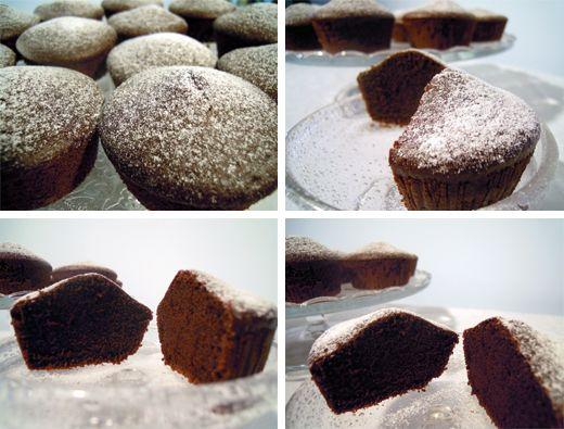 Muffin light - ricetta senza burro e uova | PANNOSO AL CIOCCOLATO