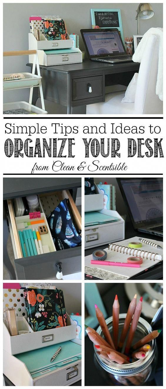 i love these simple organization ideas to keep your desk neat and rh pinterest com