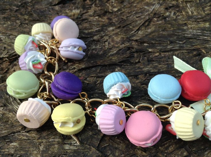 A personal favourite from my Etsy shop https://www.etsy.com/uk/listing/229080213/dessert-charm-bracelet