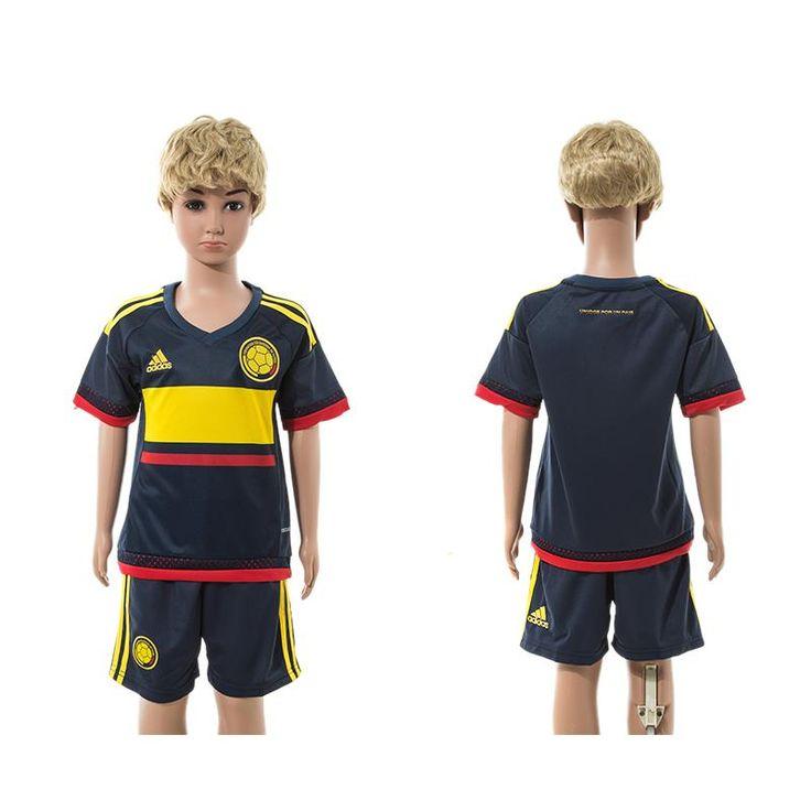 2015-2016 season, National team, Columbia Away, Football Soccor Jersey for  Boy