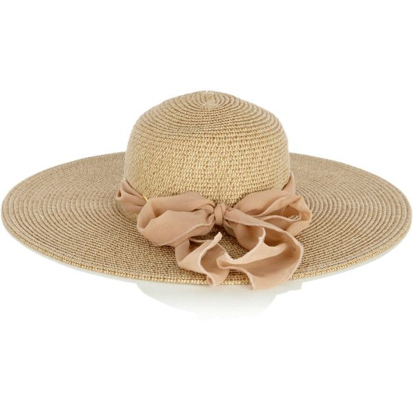 Oasis Floppy Bow Hat (€12) ❤ liked on Polyvore featuring accessories, hats, cappelli, floppy hat, paper hats, bow hat, brimmed hat and floppy brim hat