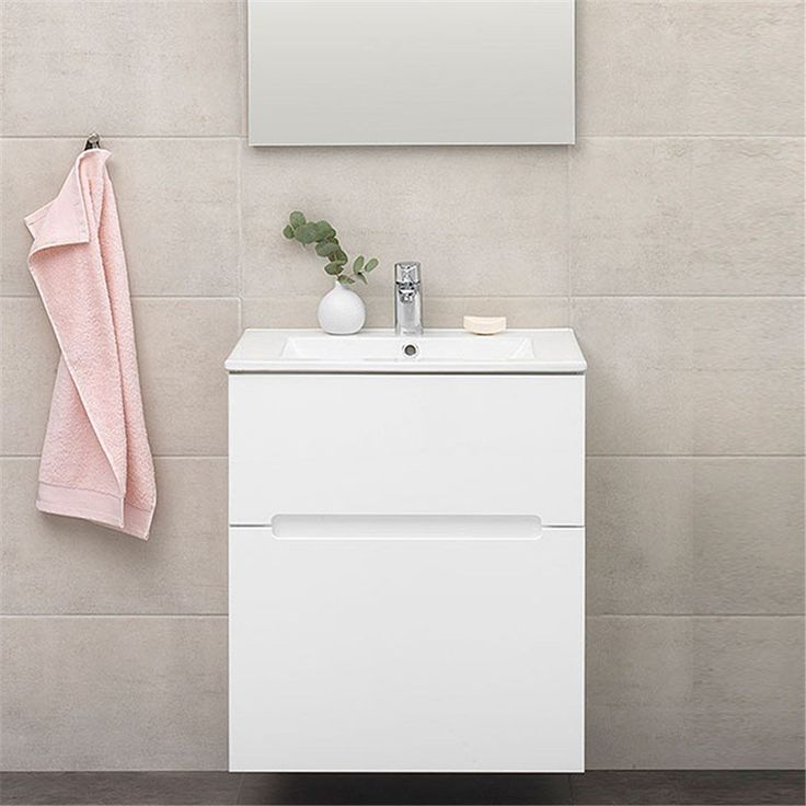 Tvättställsskåp IDO Gloss TS 600 med 2 Lådor - Tvättställsskåp & kommod - Badrumsmöbler