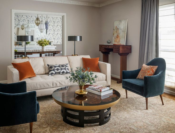 Transitional Living Room By John K Anderson Design Via Houzz