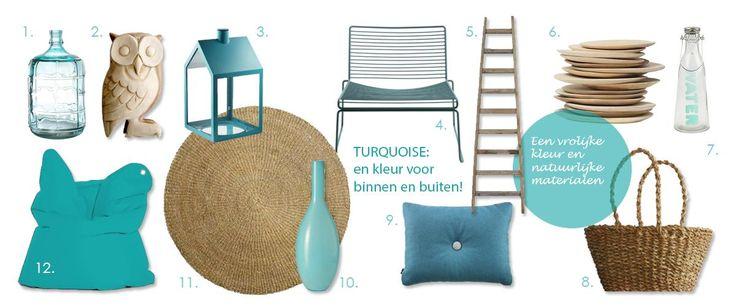 Turquoise! Een zomerse, sprekende kleur die zowel binnen als buiten heel goed werkt. - Makeithome.nl