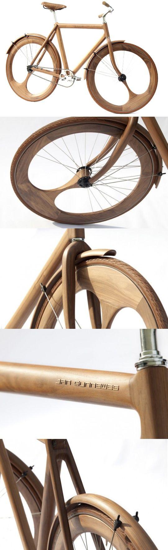 Wooden Bike by Jan Gunneweg...great product : creative & beautiful ;)