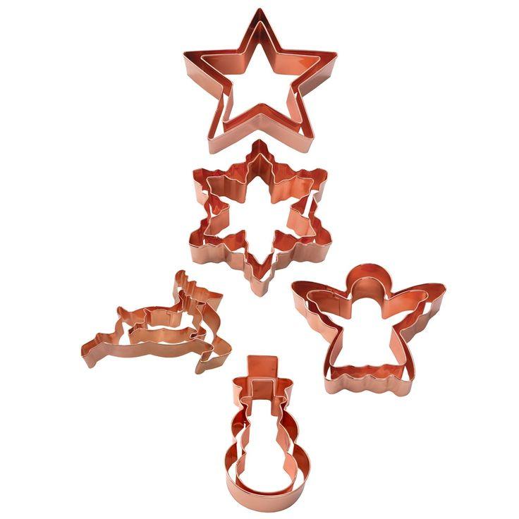 Eddingtons Christmas Copper Cookie Cutter (Set of 2)