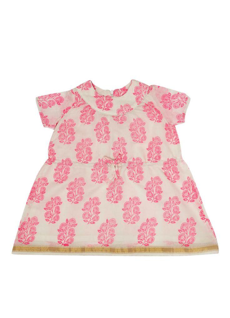Room Seven Gebloemd jurkje met strikje • de Bijenkorf